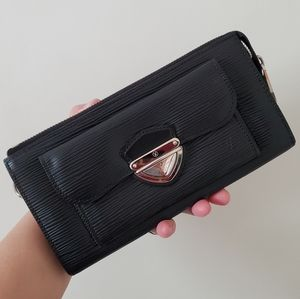 LV Black Electric Epi Leather Astrid Wallet